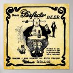 Impresión pálida de la cerveza de Perfecto de la Poster