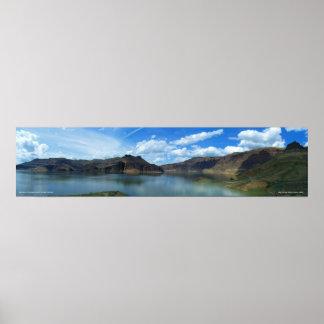 Impresión panorámica de Owyhee del lago Póster