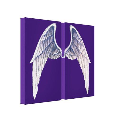Impresión partida de la lona de la púrpura de las  impresión en lona