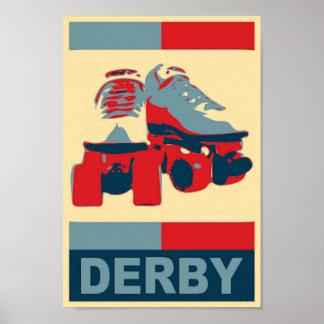Impresión patriótica de la lona de Derby del arte