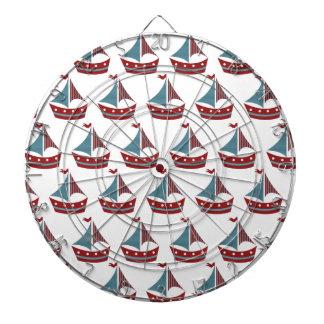 Impresión patriótica del barco de vela tablero de dardos