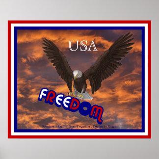Impresión patriótica del poster de la libertad de