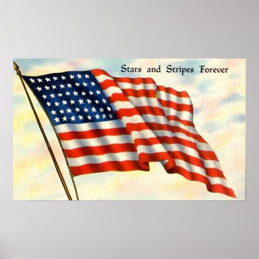 Impresión patriótica del vintage póster