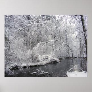 Impresión pegajosa del ~ de la nieve 27 poster