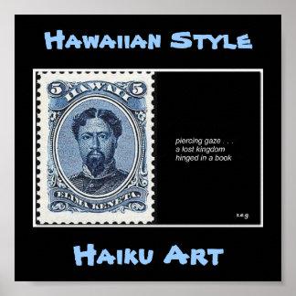 Impresión perdida del arte del Haiku del reino Impresiones