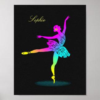 Impresión personalizada arco iris bonito del póster