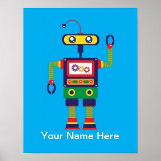 Impresión personalizada del arte del robot póster