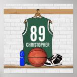 Impresión personalizada del jersey del baloncesto posters