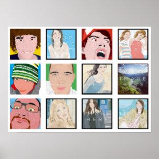 Impresión personalizada foto del poster del mosaic