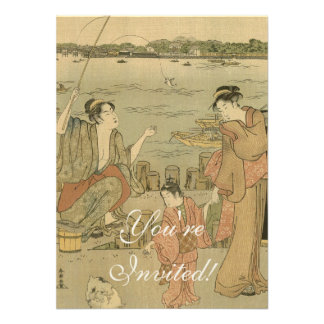 Impresión pesquera japonesa de Woodblock del vinta Anuncios