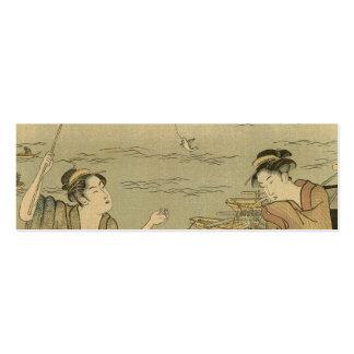Impresión pesquera japonesa de Woodblock del vinta Tarjeta De Visita