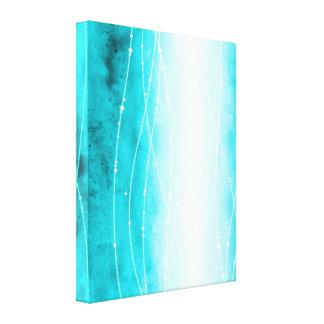 Impresión pintada blanco azul hermoso de la lona impresion de lienzo