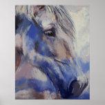 Impresión pintada del caballo póster