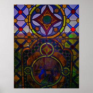 Impresión pintada del vitral impresiones