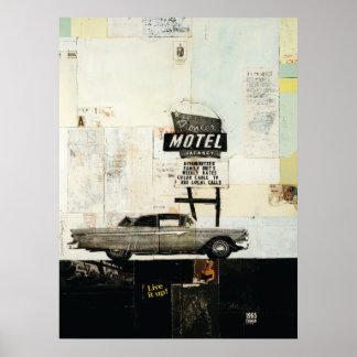 Impresión pionera del motel póster