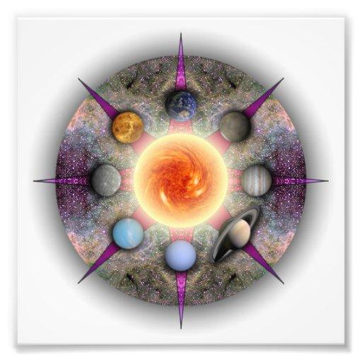 Impresión planetaria de la foto de la mandala