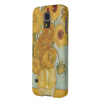 Impresión popular de los girasoles de Van Gogh Fundas Para Galaxy S5