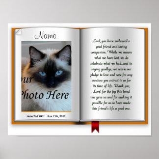 Impresión postal conmemorativa del mascota - relig póster