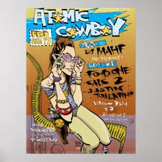Impresión/poster atómicos del vaquero póster