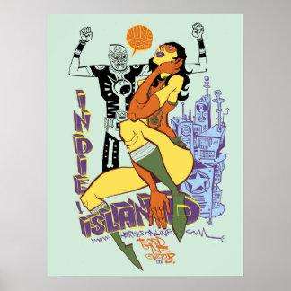 Impresión/poster de la isla de Indy Póster