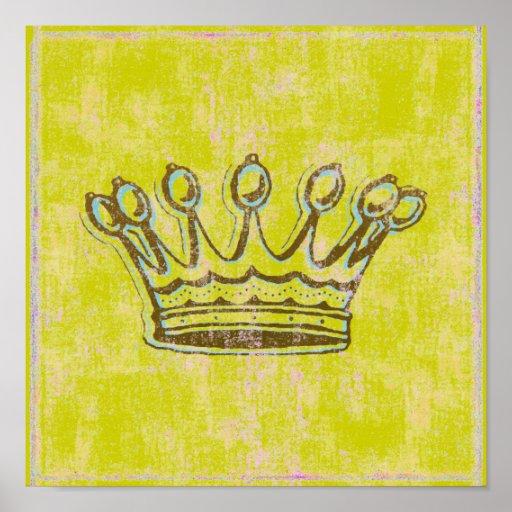 Impresión/poster del ~ de la corona de Shakespeare Póster