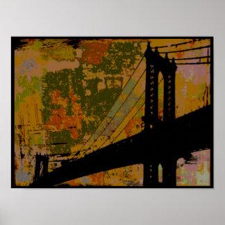 Impresión/poster del ~ del puente del baile póster