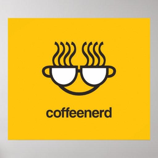 Impresión/poster del empollón del café