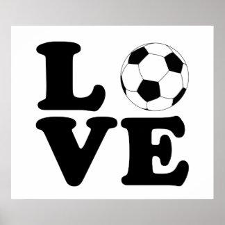 Impresión/poster del fútbol del amor
