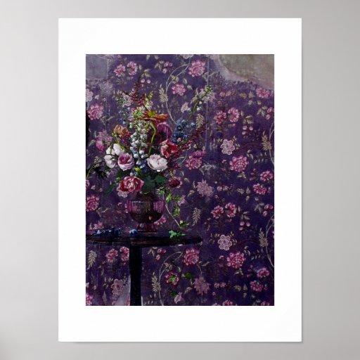 Impresión/poster estropeados del ~ de las flores póster