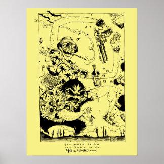 Impresión/poster puros de Gonzo Póster
