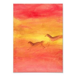 Impresión prehistórica de la foto de los caballos fotografías