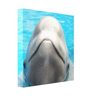 Impresión presumida de la lona de la ballena de la lienzo envuelto para galerias