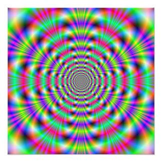 Impresión psicodélica de la foto de los anillos cojinete