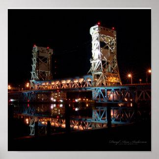 IMPRESIÓN, puente de elevación de Portage en la no Póster