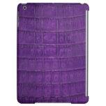 Impresión púrpura asombrosa del cocodrilo