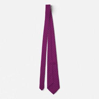 Impresión púrpura de la fibra de carbono de Fushia Corbata Personalizada