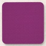 Impresión púrpura de la fibra de carbono de Fushia Posavasos De Bebidas