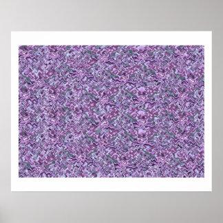 Impresión púrpura de la joya de Theraphy del color Póster