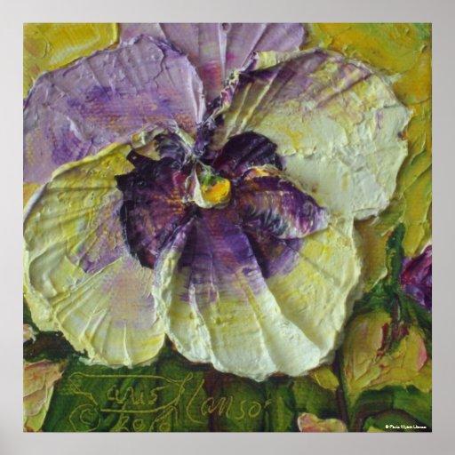 Impresión púrpura de la lona del pensamiento posters