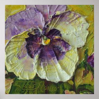 Impresión púrpura de la lona del pensamiento póster