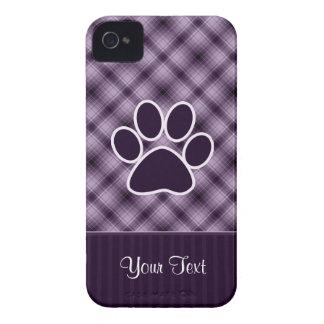 Impresión púrpura de la pata iPhone 4 Case-Mate protectores