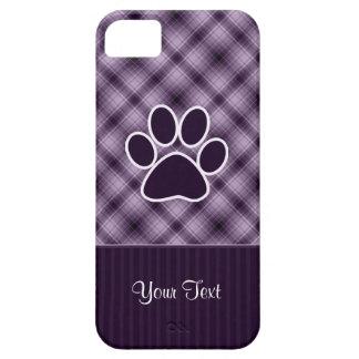 Impresión púrpura de la pata iPhone 5 Case-Mate cárcasas