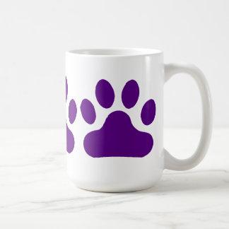 Impresión púrpura de la pata taza