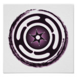 Impresión (púrpura) de la rueda de Hecate Posters