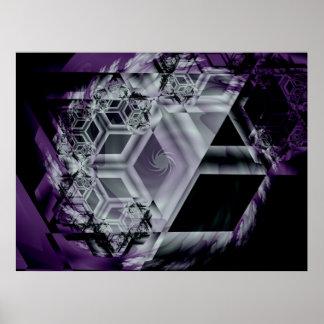 Impresión púrpura de la tonalidad póster