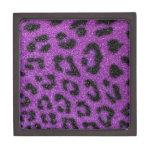 Impresión púrpura de moda linda femenina del guepa cajas de joyas de calidad