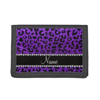 Impresión púrpura del guepardo del brillo del añil