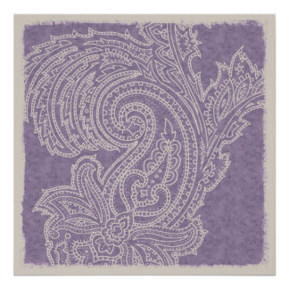 Impresión púrpura del poster de Paisley
