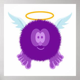Impresión púrpura del poster de Pom Pom PAL del án