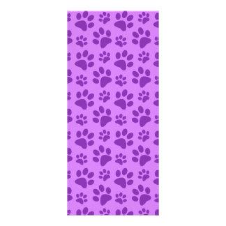 Impresión púrpura en colores pastel de la pata del diseños de tarjetas publicitarias